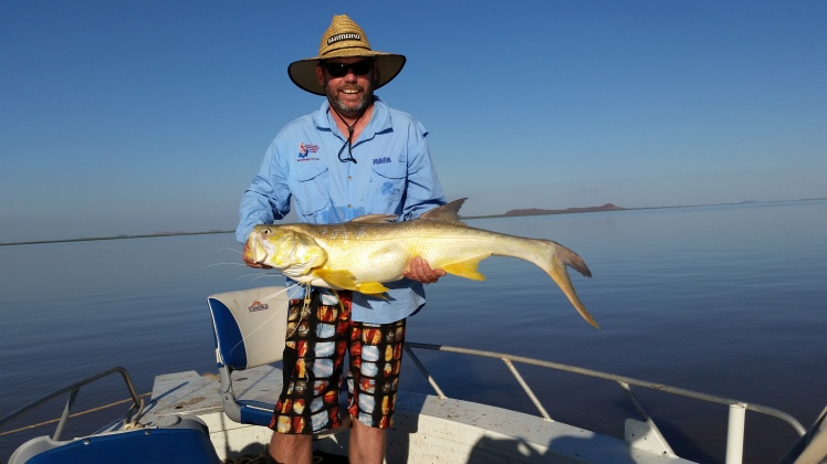 Catch of the day 124cm threadfin salmon, he went back.