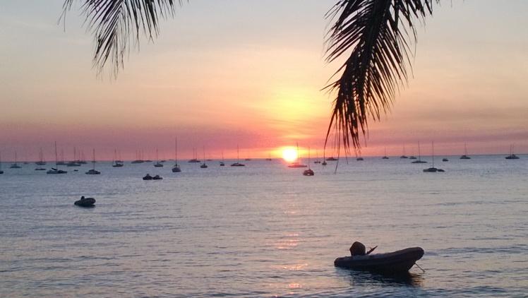 sunset Darwin yacht club style