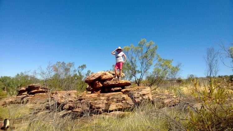 Some poser on some rocks manning gorge!!