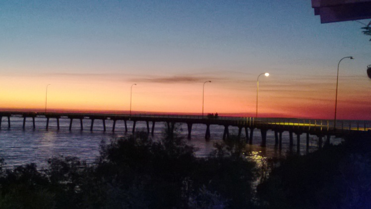 sunset at Derby jetty