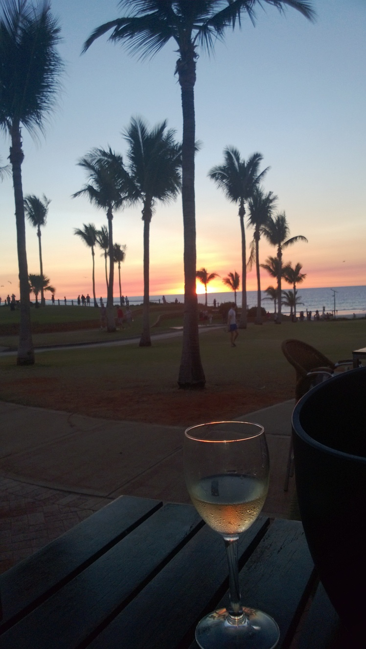 Sunset view from Bar and Grill at Cable beach resort