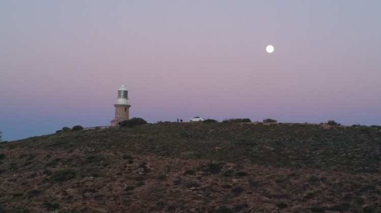 Another sunset and moonrise occasion, just beautiful. Lighthouse at Exmouth